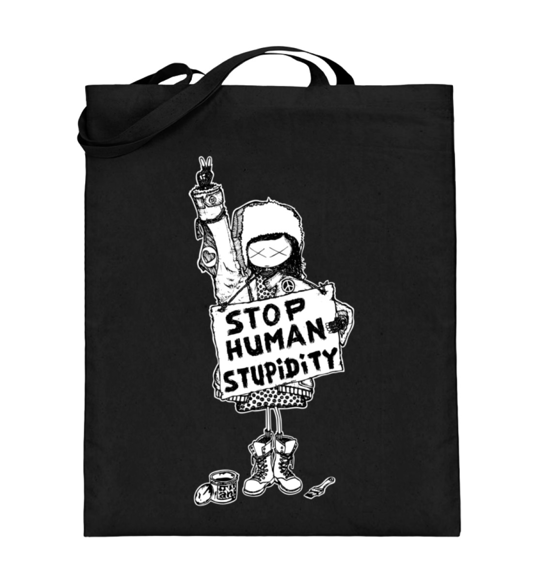 "story of the ""stop human stupidity"" girl"